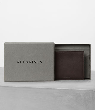 Men's Apex Leather Wallet (Choc/Black) - product_image_alt_text_5