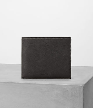 Hombres Apex Leather Wallet (SLATE GREY/TAUPE)