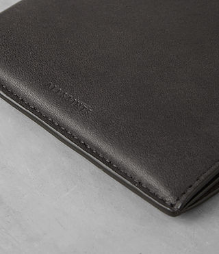Mens Apex Leather Wallet (SLATE GREY/TAUPE) - product_image_alt_text_2