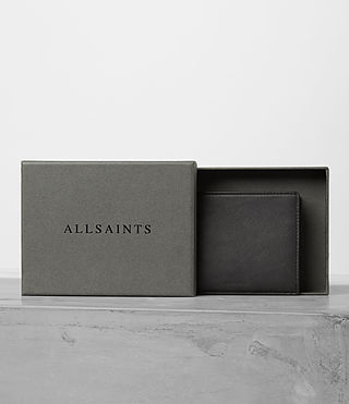 Mens Apex Leather Wallet (SLATE GREY/TAUPE) - product_image_alt_text_4