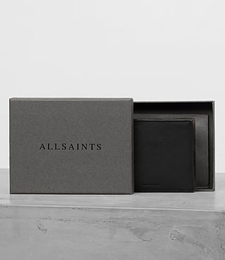 Men's Apex Leather Wallet (BLACK/TAUPE) - product_image_alt_text_4