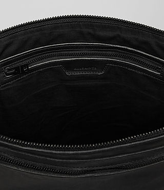 Mens Meguro Leather Document Case (Washed Black) - product_image_alt_text_4