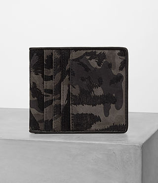Hombres Hawk Leather Wallet (FLOC CAMO)