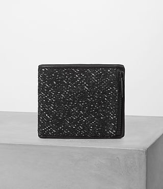 Hombres Havoc Wallet (WASHED BLACK TWEED)