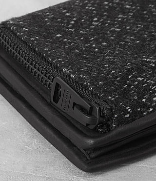 남성 하보크 레더 월릿 (WASHED BLACK TWEED) - product_image_alt_text_2