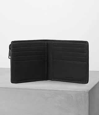 Hommes Havoc Wallet (WASHED BLACK TWEED) - product_image_alt_text_3