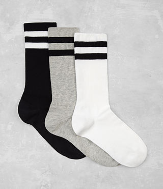 Mens Track Sock 3 Pack (Multi) - product_image_alt_text_1