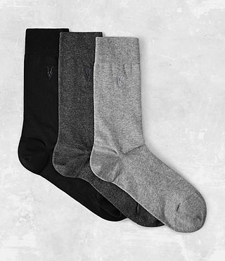 Herren Rue Sock Pack (Black) -