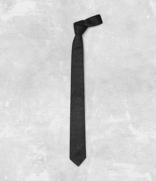 Mens Dayton Tie (Charcoal) - product_image_alt_text_1