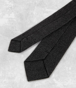 Mens Dayton Tie (Charcoal) - product_image_alt_text_3