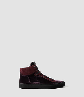 Mens Crescent Hi Top (Oxblood)