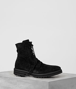 Uomo Loft Suede Boot (Black)