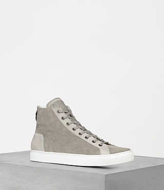 Men's Fader Hi-Top Sneaker (Stone Grey) -