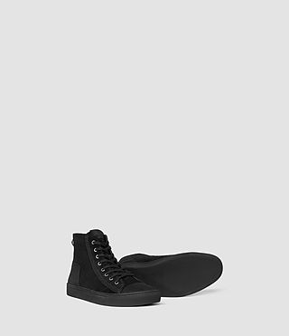 Mens Circuit Hi-top (Black) - product_image_alt_text_3