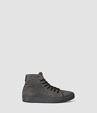 Hombres Treaty Zip Hi-top (Washed Black) -