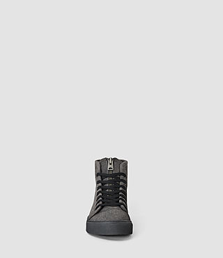 Mens Treaty Zip Hi-top (Washed Black) - product_image_alt_text_2
