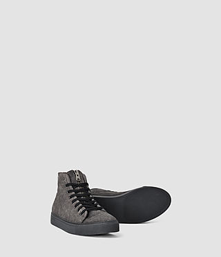 Mens Treaty Zip Hi-top (Washed Black) - product_image_alt_text_3