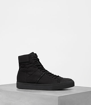Mens Mass Hi-top Sneakers (Black) - product_image_alt_text_1