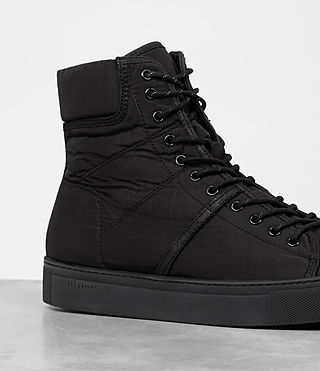 Mens Mass Hi-top Sneakers (Black) - product_image_alt_text_2