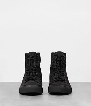 Mens Mass Hi-top Sneakers (Black) - product_image_alt_text_3