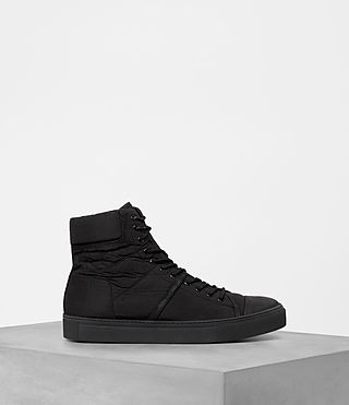 Mens Mass Hi-top Sneakers (Black) - product_image_alt_text_4