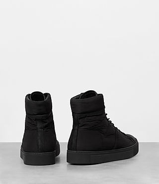 Mens Mass Hi-top Sneakers (Black) - product_image_alt_text_5