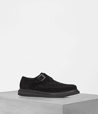 Mens Valve Suede Shoe (Black)