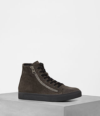 Mens Asher Hi-top Sneaker (Dark Taupe)