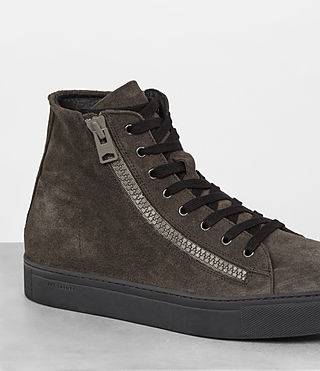 Mens Asher Hi-top Sneaker (Dark Taupe) - product_image_alt_text_2