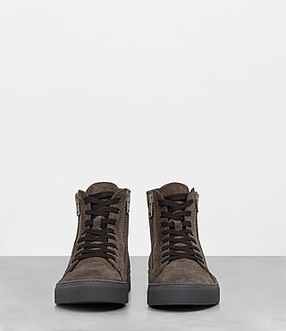 Mens Asher Hi-top Sneaker (Dark Taupe) - product_image_alt_text_3