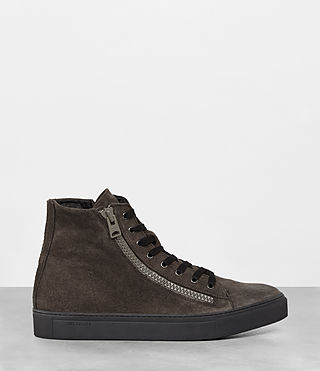 Mens Asher Hi-top Sneaker (Dark Taupe) - product_image_alt_text_4