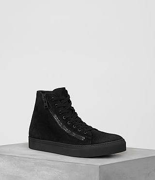 Mens Asher Hi-top Sneaker (Black) - product_image_alt_text_1