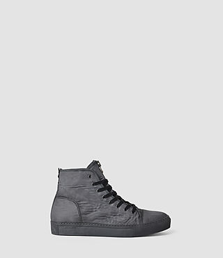 Hombres Nylon Treaty Zip Hi-Top (Charcoal)