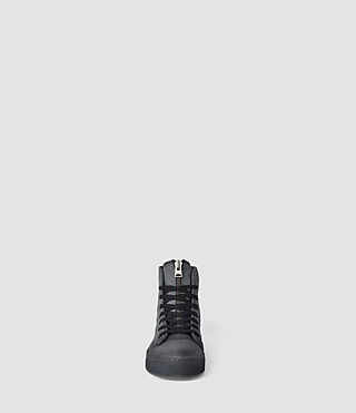 Hombres Nylon Treaty Zip Hi-Top (Charcoal) - product_image_alt_text_2