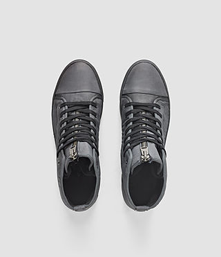 Hombres Nylon Treaty Zip Hi-Top (Charcoal) - product_image_alt_text_4