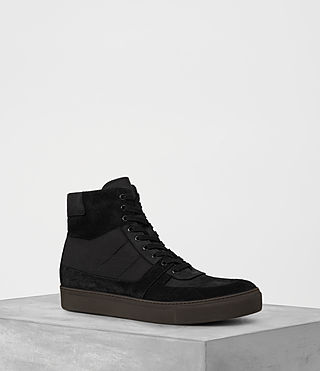 Mens Code Hi-Top Sneaker (Black)