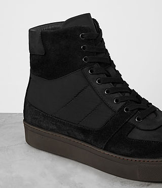 Men's Code Hi-top Sneaker (Black) - product_image_alt_text_2