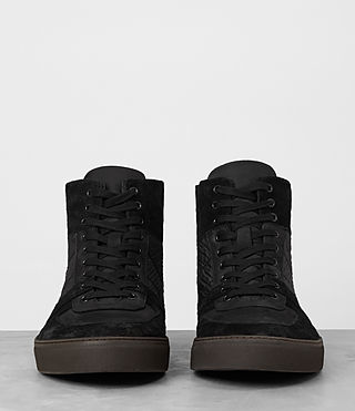 Men's Code Hi-top Sneaker (Black) - product_image_alt_text_3