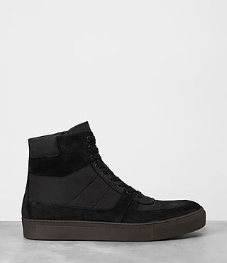 Men's Code Hi-top Sneaker (Black) - product_image_alt_text_4