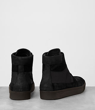 Men's Code Hi-top Sneaker (Black) - product_image_alt_text_5