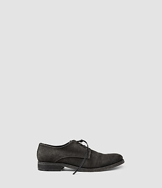 Hommes Canvas Miter Shoe (Washed Black)