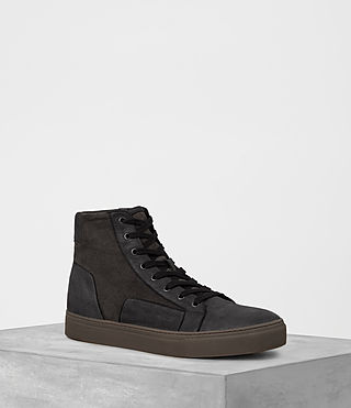 Mens Alt Hi-Top Sneaker (Charcoal/Black)