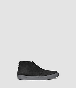 Mens Pace Desert Boot (Washed Black)