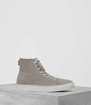 Mens Point Hi-top Sneaker (Slate Grey) - product_image_alt_text_1
