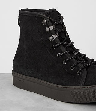 Hombres Point Hi-top Sneaker (Black Suede) - product_image_alt_text_2