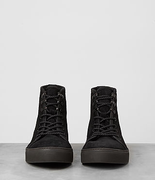 Hombres Point Hi-top Sneaker (Black Suede) - product_image_alt_text_3