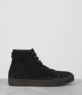 Hombres Point Hi-top Sneaker (Black Suede) - product_image_alt_text_4