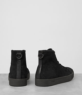 Hombres Point Hi-top Sneaker (Black Suede) - product_image_alt_text_5
