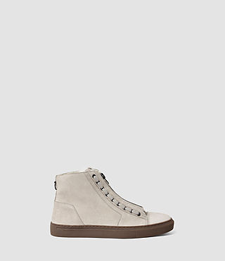 Hommes Tracker Shearling Hi Top (Stone) -