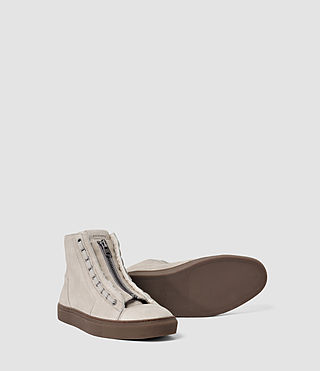 Hommes Tracker Shearling Hi Top (Stone) - product_image_alt_text_3
